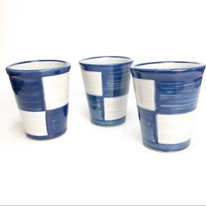 LOUISVILLE POTTERY 3 Mint Julep Cups Stoneware